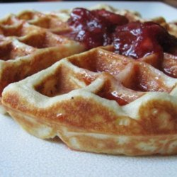 Waffles With Fresh Strawberry Syrup - Emeril Lagasse recipe