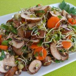 Mushroom and Herb Salad recipe