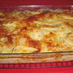 Blue Cheese Mushroom and Onion Potato Gratin recipe