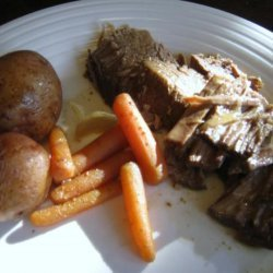 Sweet and Sour Beef Pot Roast in the Slow Cooker recipe