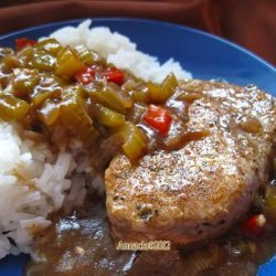 Cajun Smothered Pork Chops recipe