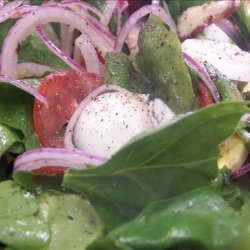 Spinach and Mushroom Salad With Citrus Vinaigrette recipe