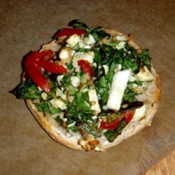 Open Faced Spinach and Feta Melt recipe