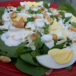 Spinach Salad With Yogurt Dressing recipe
