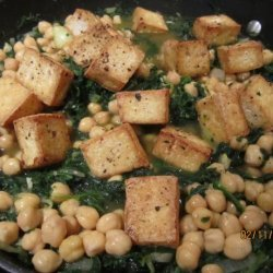 Indian Tofu and Spinach over Almond Rice recipe