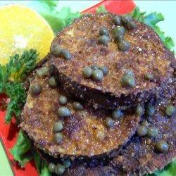 Eggplant (Aubergine) and Portabella Schnitzel recipe