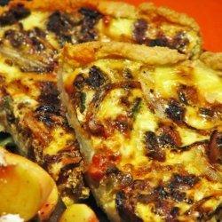 Garden Vegetable Quiche With a Cream Cheese Crust recipe