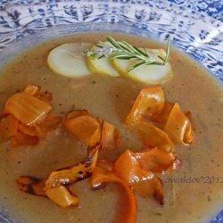 Potato Rosemary Soup With Crispy Carrots recipe