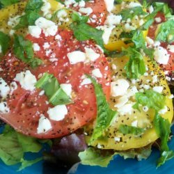 Tomato Salad With Goat Cheese recipe