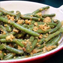 Green Beans With Peanut Ginger Dressing recipe