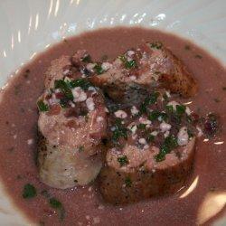 Seared Pork Tenderloins With Blue Cheese Sauce recipe
