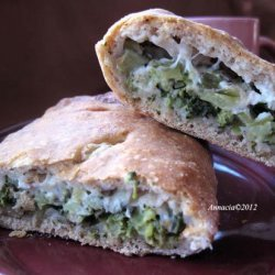 Broccoli and Cheese Calzones recipe