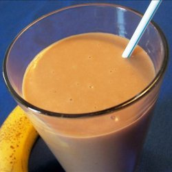 Chocolate Banana Smoothie With a Hint of Peanut recipe
