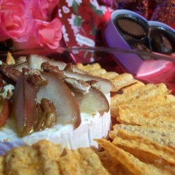 Baked Brie With Pear Topping recipe