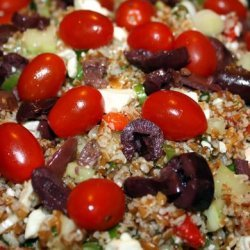 Bulgar, Red Pepper, Cucumber, and Feta Salad recipe
