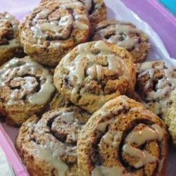 Pumpkin Cinnamon Roll Scones recipe