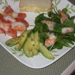 Avocado, Prawn / Shrimp & Pink Grapefruit Salad - for Two 2 recipe
