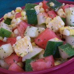 Corn, Cucumber and Tomato Toss recipe