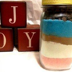 Colorful Sand Art Brownies recipe