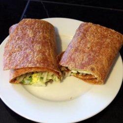 Egg and Lettuce Wrap recipe