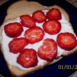 Fruit and Whipped Cream Sandwich recipe
