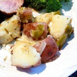 Patricia's Poblano and Potato Side Dish recipe