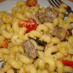 Chicken Sausage Pasta With Basil and Wine recipe