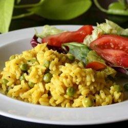 Yellow Rice With Peas recipe