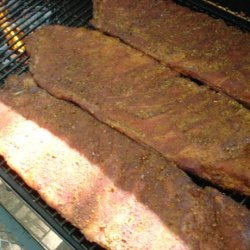 Dave's Rib Rub and Pit Barbecue Ribs recipe