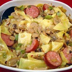 Ukrainian Sausage Noodle Casserole recipe