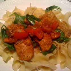 Balsamic Chicken With Spinach and Fresh Tomato recipe