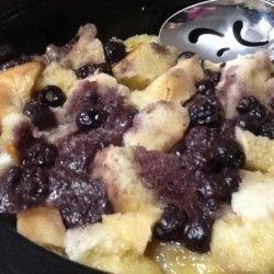 Slow Cooker Raspberry Bread Pudding recipe