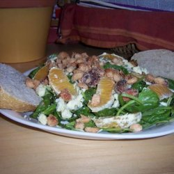 Arugula Salad With Oranges, Feta, and Sugared Pistachios recipe
