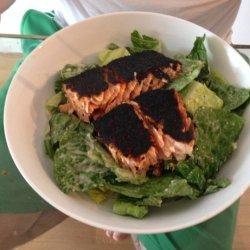 Blackened Salmon Caesar Salad recipe