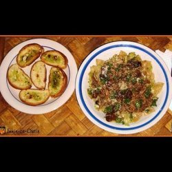 Crock Pot Shredded Balsamic Chicken With Herb Cabbage Pasta recipe