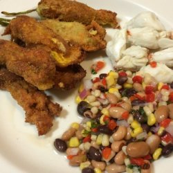 Squash Blossoms Stuffed With Goat Cheese recipe