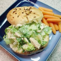 Caesar Salad Sandwiches With Chicken recipe