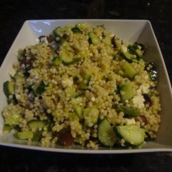 Israeli Couscous Salad With Asparagus, Cucumber and Olives recipe