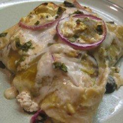 Chicken Sour Cream Enchilada Casserole recipe