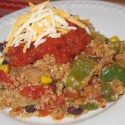 Spicy Mexican Quinoa Casserole recipe