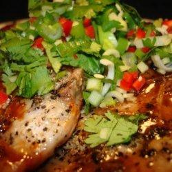 Hoisin Glazed Pork Chops With Thai Power Pack recipe
