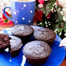 Healthy Deep Dark Chocolate Muffins recipe