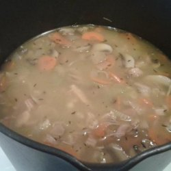 Easy Low Fat After Thanksgiving Turkey Barley Soup recipe