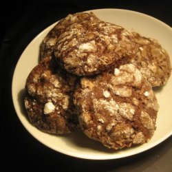 Chocolate Crackle-Top Biscuits recipe