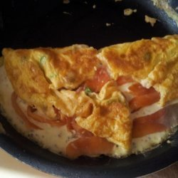 Smoked Salmon Omelet With Herbs recipe