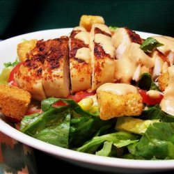 Southwestern Chicken Caesar Salad With Chipotle Dressing recipe