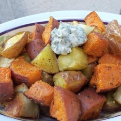Mixed Roasted Potatoes With Herb Butter recipe