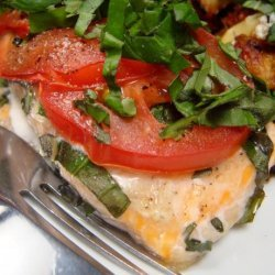 Grilled Salmon With Tomatoes & Basil recipe