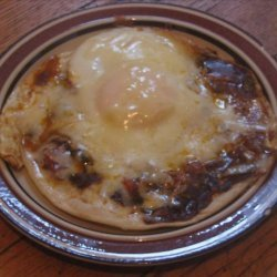 Egg Mole Tostada recipe