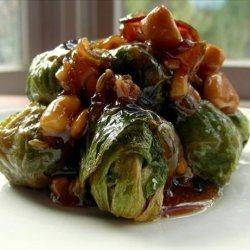 Brussels Sprouts and Walnuts With Fennel and Shallots recipe